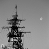 USS Barry and Moon