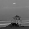 Huntington Beach Moonset